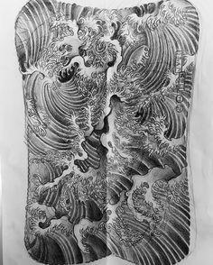 "921 lượt thích, 45 bình luận - Horimitsu Tokyo ikebukuro (@horimitsu) trên Instagram: ""#japanesetattoo #tattooartist #tattoo #sketch for back piece of my friend"" Dragon Sleeve Tattoos, Japanese Water, Japanese Dragon Tattoos, Monami Frost, Irezumi Tattoos, Back Pieces, Chest Piece, Tattoo Models, Tattoo Artists"