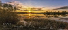 Spring sunrise panorama by alekseimalygin Cool Landscapes, Nature Photos, Cool Photos, Sunrise, Nikon D3300, Celestial, Spring, Russia, Outdoor