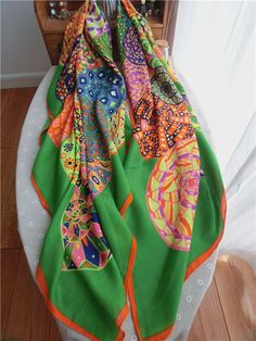 Morpheus Boutique  - Green Pattern Colorful Cotton Designer Shawl Long Scarf Wrap, CA$30.76 (http://www.morpheusboutique.com/new-arrivals/green-pattern-colorful-cotton-designer-shawl-long-scarf-wrap/)
