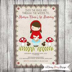 Little Red Riding Hood  Girls Printable Party by CherryBerryDesign
