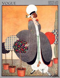 Vintage Vogue cover ~ 1915. The fashion is weird but still beautiful!