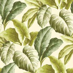 Exotisch bladeren behang groen BA 2401