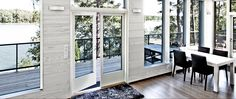 Rustic Ash interior panels look beautiful in this summer cottage. Visit www.fi for more inspiration. Interior Inspiration, Ash, Cottage, Rustic, Interior Design, Summer, Room, Furniture, Beautiful