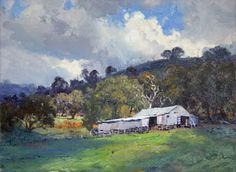 Warwick Fuller painting - Sofala Shed Landscape Art, Landscape Paintings, Landscape Photography, Oil Paintings, Australian Painting, Australian Artists, Long Painting, Born In China, Royal Art
