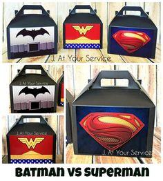 Batman vs Superman Inspired Favor Boxes