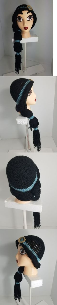 Hats 15630: Handmade Crochet Disney Jasmine Inspired Wig Beanie With Handpainted Head -> BUY IT NOW ONLY: $35 on eBay!