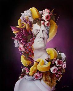"Canadian artist Bennett Slater creates cool oil paintings heavily inspired by pop culture elements. ""Bennett"