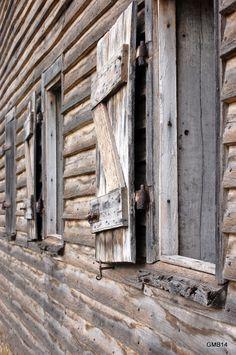 Shearing shed shutters, Woolmers, Tas