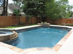 rectangle pools with spas | natural pool designs contemporary pool designs