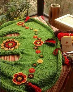 Crochet Cord, Form Crochet, Crochet Butterfly Pattern, Crochet Cardigan, Crochet Fashion, Knit Patterns, Crochet Clothes, Knitting Projects, Mantel