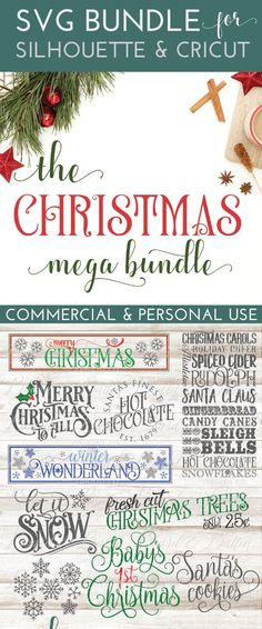 This Christmas & Holiday 2017 bundle is probably the most popular SVG bundle of the year for me! Full of LOTS of great vintage Christmas SVG files, along with some of the other holidays including New Year. Save over 60% when you buy the bundle!