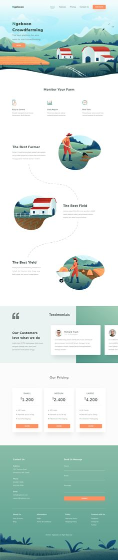 Farming Website Cool Web Design, Best Website Design, Web Design Examples, Web Design Studio, Web Ui Design, Web Design Trends, Page Design, Flat Design, Design Design