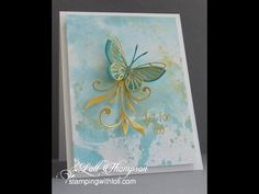 Smooshing technique using Inka Gold wax paste (by Viva Decor) to create beautiful watercoloured backgrounds or pieces for die-cutting embellishment for hand ...