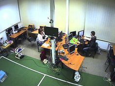 Students working at night Intelligent Technology, Student Work, Basketball Court, Students, Night