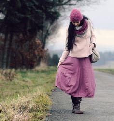 Lněná růžovofialová Rose, Winter Hats, Fashion, Moda, Pink, Fashion Styles, Fasion, Roses, Pink Roses