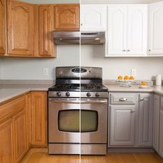 Makeover your kitchen cabinets with the help of the Rust-Oleum Cabinet Transformation Kit! Click through to get the how-to on The Home…