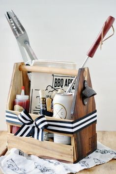 6 Last-Minute (Mostly Dollar Store) Gift Baskets for Father's Day
