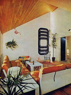 Family room from Better Homes and Gardens magazine, September 1975