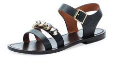 Marni Jeweled Double Strap Sandal