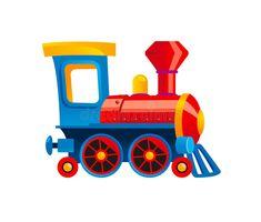 Illustration about Toy engine (cartoon steam locomotive). Illustration of wheel, transport, locomotive - 16120676
