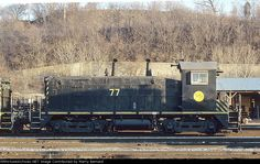 Gateway Western 77   Description:    Photo Date:  1/21/1995  Location:  Kansas City, MO   Author:  Marty Bernard  Categories:    Locomotives:  GWWR 77(SW1200)