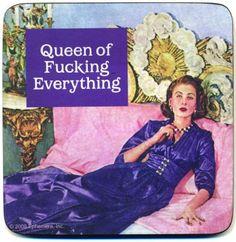 Kitsch.fi - Lasinalunen hmb (1 kpl), Queen of fucking everything