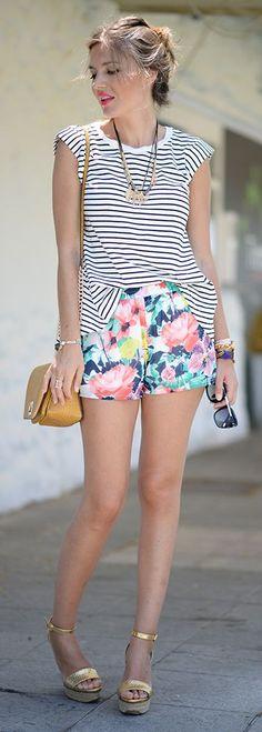 ♥Floral Shorts Styling by Mi Aventura Con La Moda