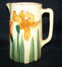 Antique Iris Pitcher