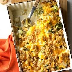Pearl Onion Broccoli Bake Recipe -With its creamy white cheese sauce and buttery crumb topping, this dish is great comfort food. If you're looking for a mild way to dress up broccoli, this is the recipe. —Charles Keating, Manchester, Maryland