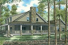 Country Style House Plan - 10 Beds 3.5 Baths 4134 Sq/Ft Plan #17-652 Exterior - Rear Elevation - Houseplans.com