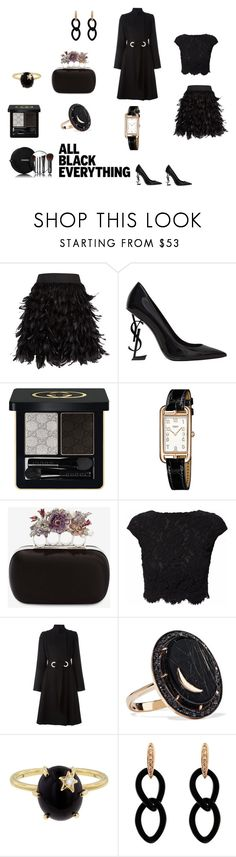 """""""Dinner date"""" by micettes ❤ liked on Polyvore featuring Alice + Olivia, Yves Saint Laurent, Chanel, Gucci, Hermès, Alexander McQueen, WtR, Proenza Schouler, Andrea Fohrman and Jona"""