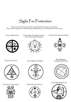 Sigils for Protection - cute-tattoo