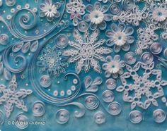 Картина, панно, рисунок Квиллинг: Метелица.  Бумага Новый год, Отдых, Рождество. Фото 10