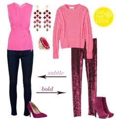 Get The Look - Burgundy + Pink #KendraScott