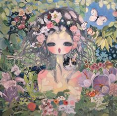 """Aya Takano 2014 """"May All Things Dissolve in the Ocean of Bliss"""" http://bananajuicecosmix.blogspot.fr/"""