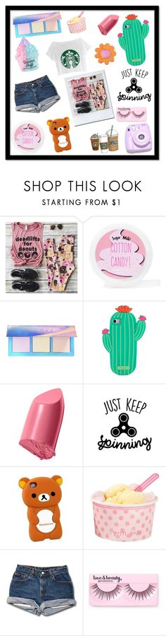 """""""Starbucks"""" by switchkid ❤ liked on Polyvore featuring Sugar Milk Co, Lime Crime, Kate Spade, Bobbi Brown Cosmetics, Polaroid, Cotton Candy and Forever 21"""