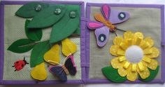 Bugs and butterfly garden quiet book page