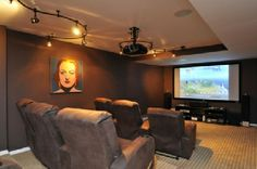 Town & Country Real Estate - Sagaponack #TownandCoountry #MovieTheater #Entertainment #HomeDecor