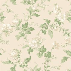 This charming design features blooms surrounded by curling green stems. Printed in light & pink, from Anno by Borastapeter. Flowers Wallpaper, Cream Wallpaper, Botanical Wallpaper, Hallway Wallpaper, Home Wallpaper, Wallpaper Ideas, Flower Power, Victorian Wallpaper, Drops Patterns