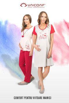 Colecția nouă de pijamale nu le-a uitat pe proaspetele mămici! 👶 Bumbac moale și confortabil, pentru mămici relaxate. Comfy Pajamas, Pajamas Women, Underwear, Pure Products, Dresses, Fashion, Vestidos, Moda, Pajamas For Women