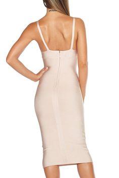 Fiona Nude Bandage Dress
