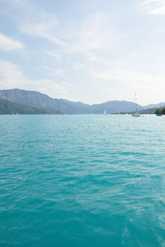 Summer days at lake Attersee in Austria