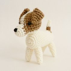 AmiDogs Jack Russell Terrier amigurumi dog PDF CROCHET PATTERN | planetjune - Patterns on ArtFire