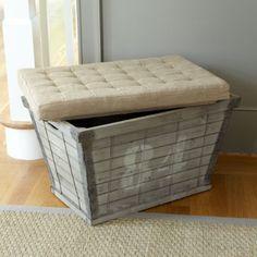 Wood Plank Storage Bench