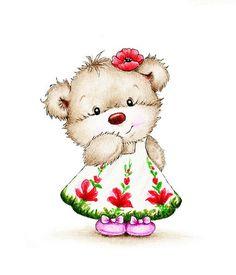 Cute Teddy bear girl - Buy this stock illustration and explore similar illustrations at Adobe Stock Tatty Teddy, Kids Wall Decor, Art Wall Kids, Art For Kids, Teddy Bear Cartoon, Cute Teddy Bears, Baby Room Wall Art, Nursery Art, Room Art
