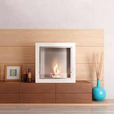 Cube Jr. Fireplace White now featured on Fab. - expensive but pretty cool