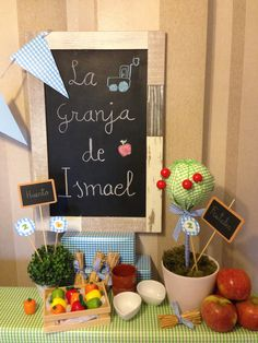 LA GRANJA DE ISMAEL | ilumihada Tractor Birthday, Farm Birthday, 2nd Birthday Parties, Farm Animal Party, Farm Party, Cowboy Party, Farm Theme, Ideas Para Fiestas, Childrens Party