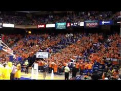 """Boise State's The Corral (student section) performed """"Flash Mob 2.0"""" at Taco Bell Arena Saturday night as Boise State Broncos men's basketball won 68-61 over Wyoming.    Go Broncos!"""