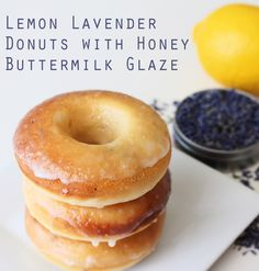 Donut Recipes, Gourmet Recipes, Dessert Recipes, Just Desserts, Delicious Desserts, Lavender Recipes, Culinary Lavender, Baked Donuts, Doughnuts