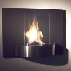 Vivido -- Featuring two burner cups and a sharp, black backdrop that will coincide stunningly set against the flames, the Vivido can be placed anywhere one desires.